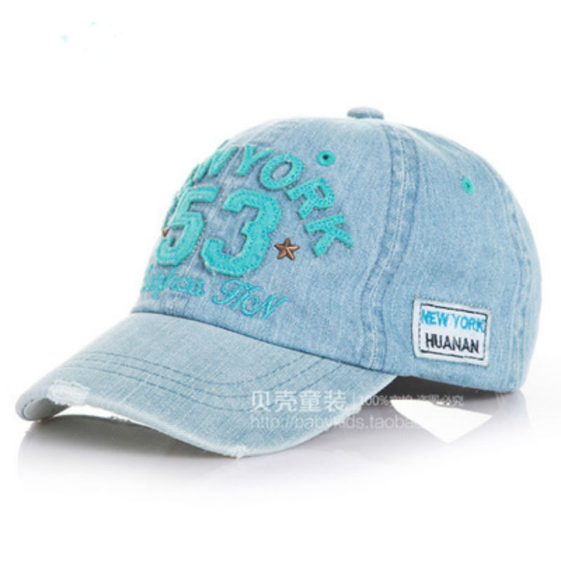 ef54fbeb556 Buy 2015 new kids cotton caps boys baseball caps summer jean hats children  caps girls baseball cap 2-8 ages baby hat children hat in Cheap Price on ...