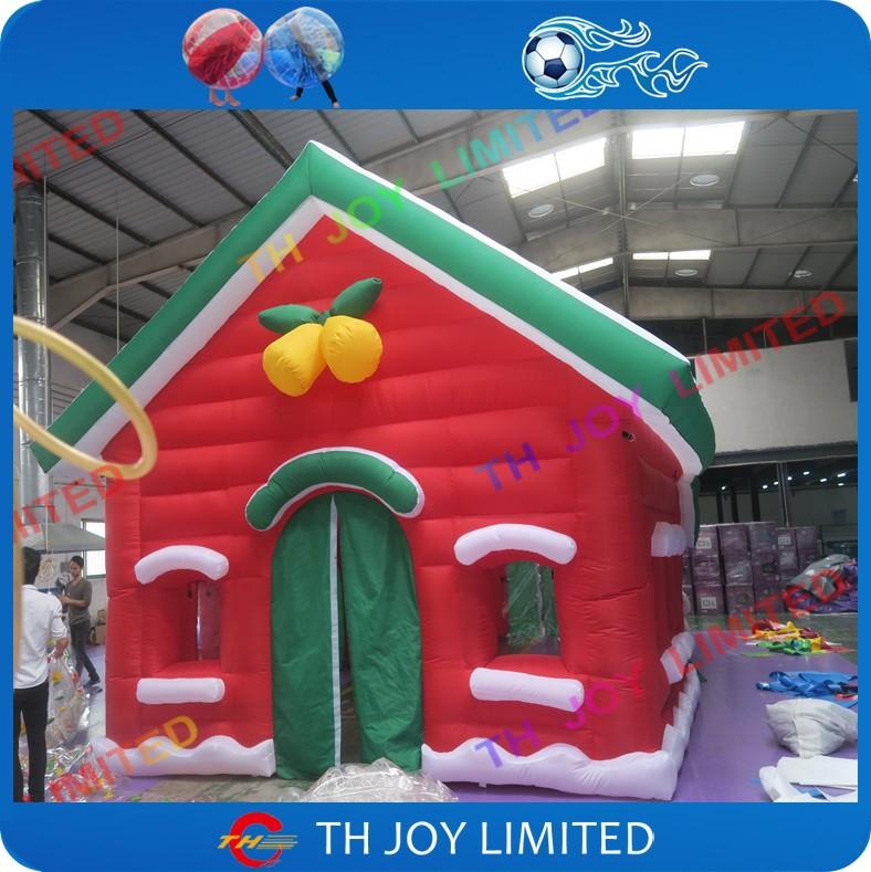 M christmas inflatable santa s grotto