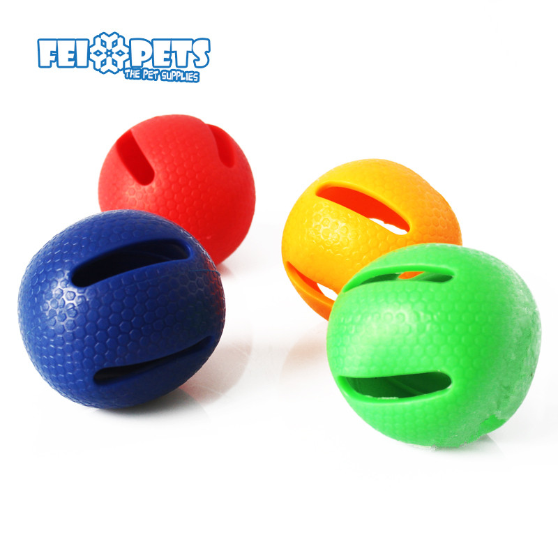 Pet dental toy natural soft rubber dog ball for light chewer