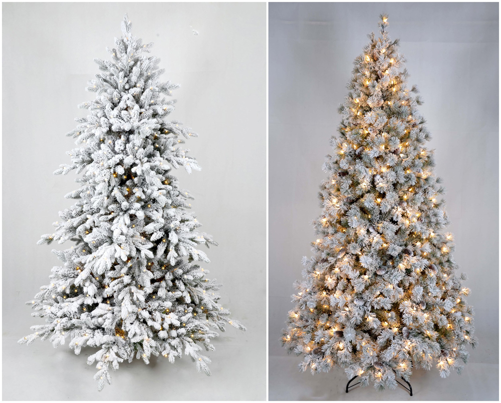 Artificial Led Spiral Fiber Optic Christmas Tree White
