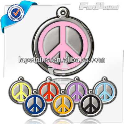 Custom Peace Symbol Pet ID Tag