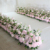 Shininglife High-end outdoor hotel wedding decorationflower row stand flowers artificial wedding
