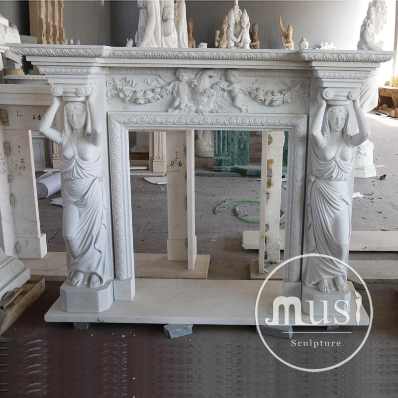 natual stone lower price marble fireplace hearths
