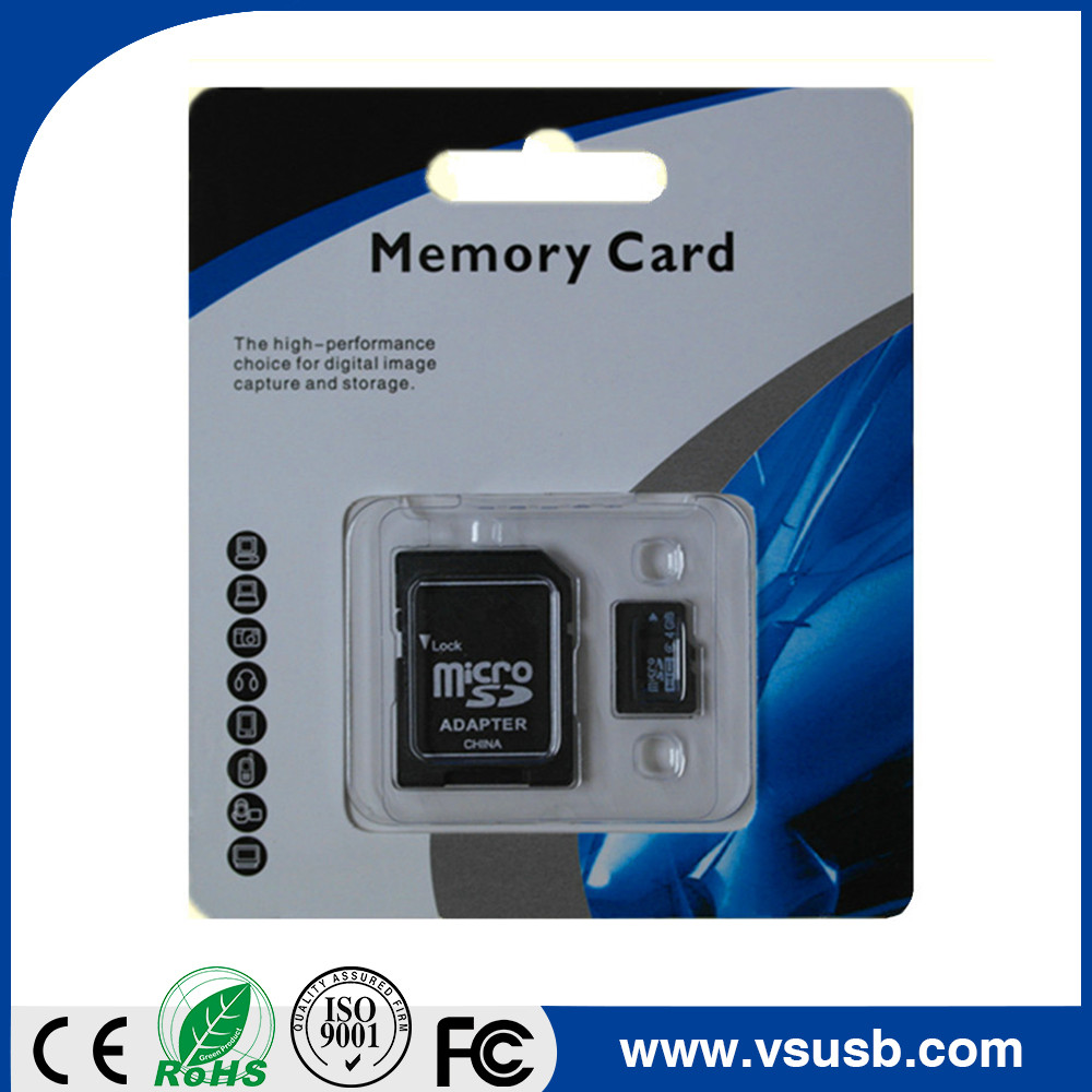 Wholesales Bulk custom logo SD memory card micro with blister packing or white box