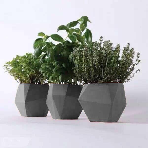 Concrete Pots For Sale Part - 36: Tall Light Outdoor Cement Planter, Light Cement Pottery, Light Concrete Pot
