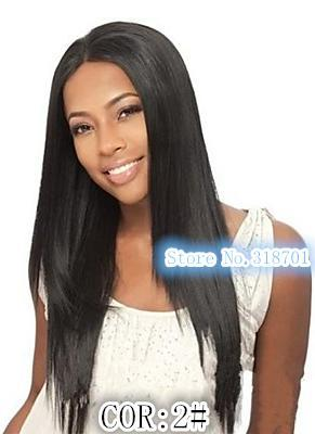 Long Black Straight Costume Wigs  Skin Top Wigs free shipping