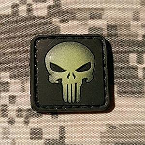 Punisher Ranger Eye Glow In The Dark Morale Patch - PVC Rubber Morale Patch, Hook Velcro Backed by NEO Tactical Gear