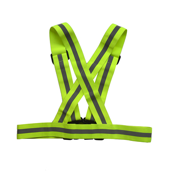 Top quality rubber wire high Visibility reflective safety vest with Adjustable Straps