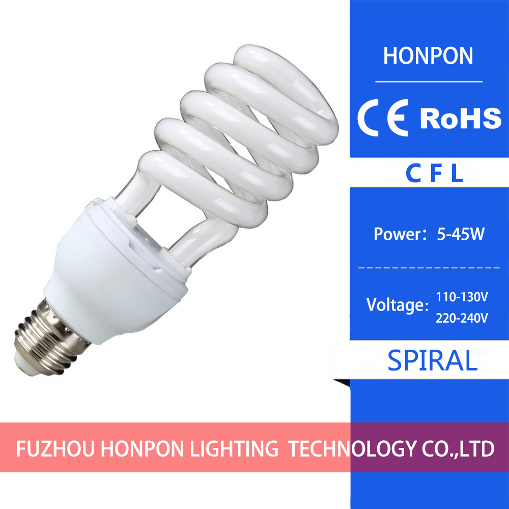 cfl energy saving lamp spiral e27 b22 spiral three and a half in
