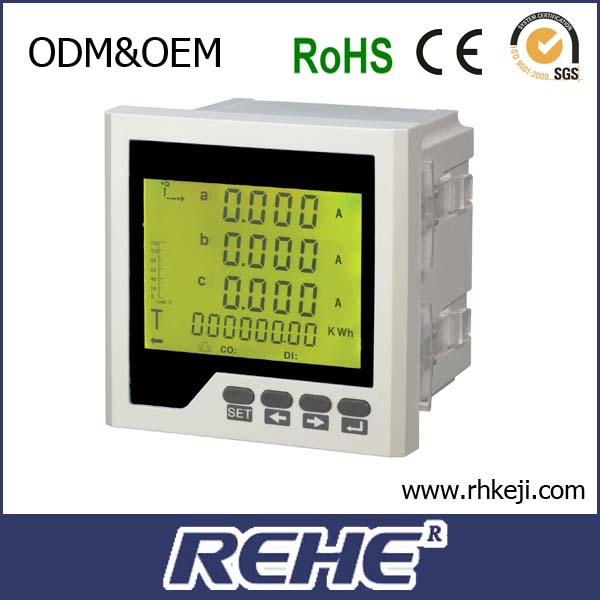 REHE Meter 80*80mm three phase digital Power current and voltage tester Multimeters RH-3FHD7Y