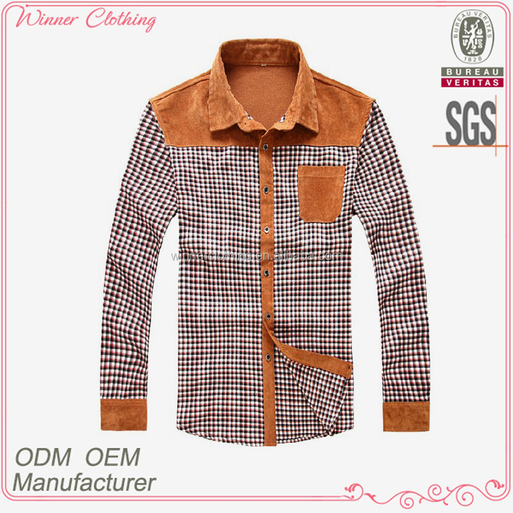 Mens New Style Contrast Color Collar And Cuff Dress Shirts Buy