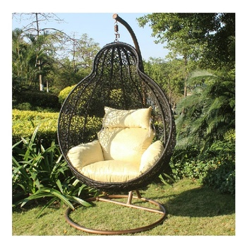 Oversized Cushions Rattan Egg Chair Round Chairs For