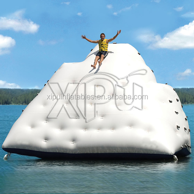 2017 Factory Prices Inflatable Floating Climbing Iceberg