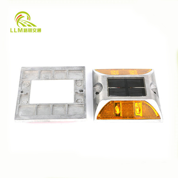 Factory outlet aluminum double side LED luminous colorful solar reflective road stud