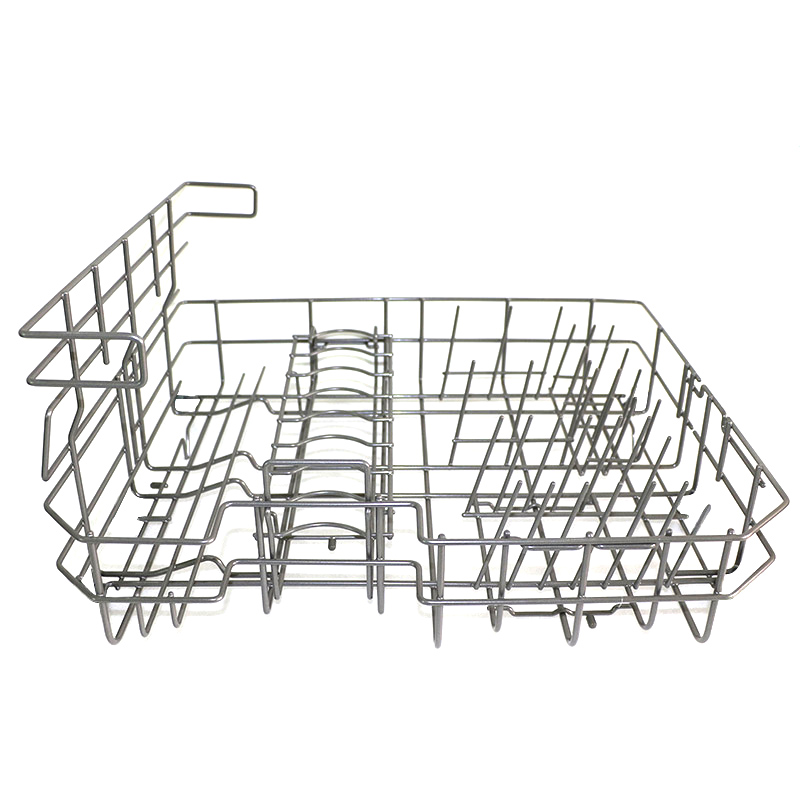 Kitchen Metal Wire Stainless Steel Cutlery Storage Dishwasher Basket