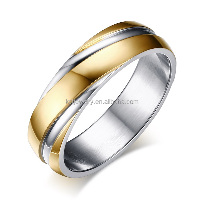 KSF Fashion Ring Jewellry Wholesale Stainless Steel 316L Ring Finger Band Ring
