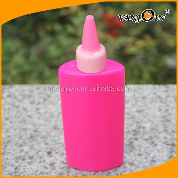 5oz Squeeze Style Empty Tip Spout Plastic Glue Bottle with Red Color