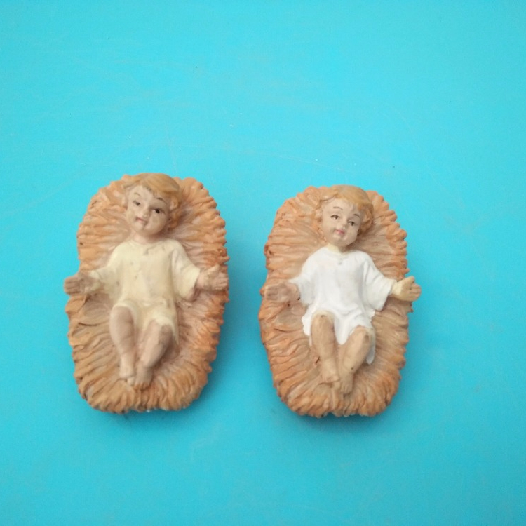 factory direcy sale Lively resin baby jesus,