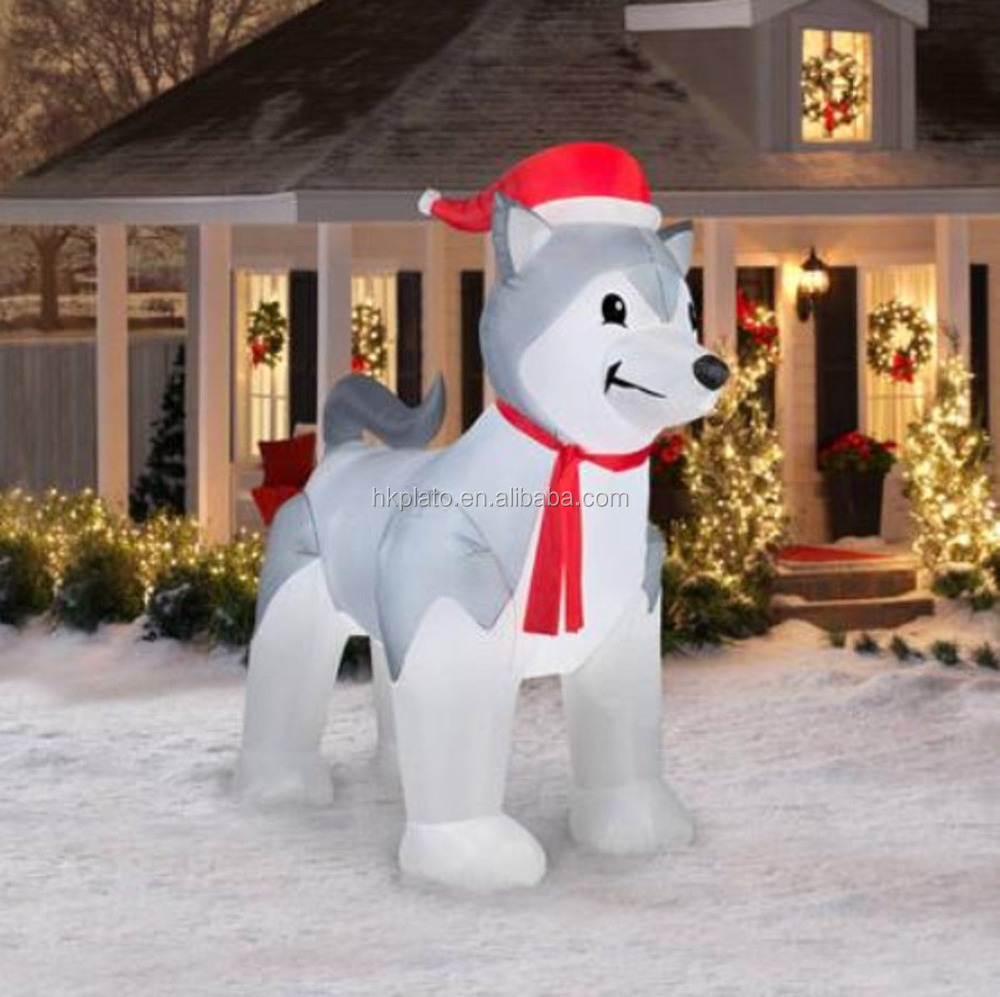 christmas inflatable doginflatable shiba inuoutdoor dog decoration