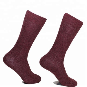 Fashion fuzzy merino wool boot socks
