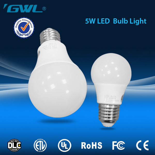 Factory wholesale 5w B22 led bulb 5 watt with plastic and aluminium body
