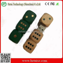 wooden dice usb stick wholesale, gift wood dice 1 tb usb flash drive