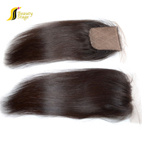 Wholesale price natural super fine swiss lace hair closure,cheap straight closure 3 bundles,raw indian hair closure