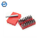 "32 Pieces CRV Mini Screwdriver Bits Set with Torx Pozi Phillips Slotted Square Heads and 1/4"" Magnetic Bits Holder"