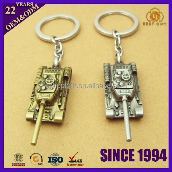 3D World of Tanks Keychain Metal Alloy For Gift Key Chain