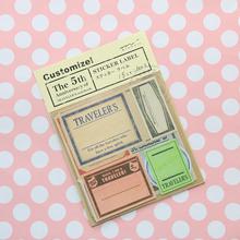 Vintage Travel Stamp Paper Notebook Decorative Sticker Diary Stickers  # Midori Traveler's Notebook