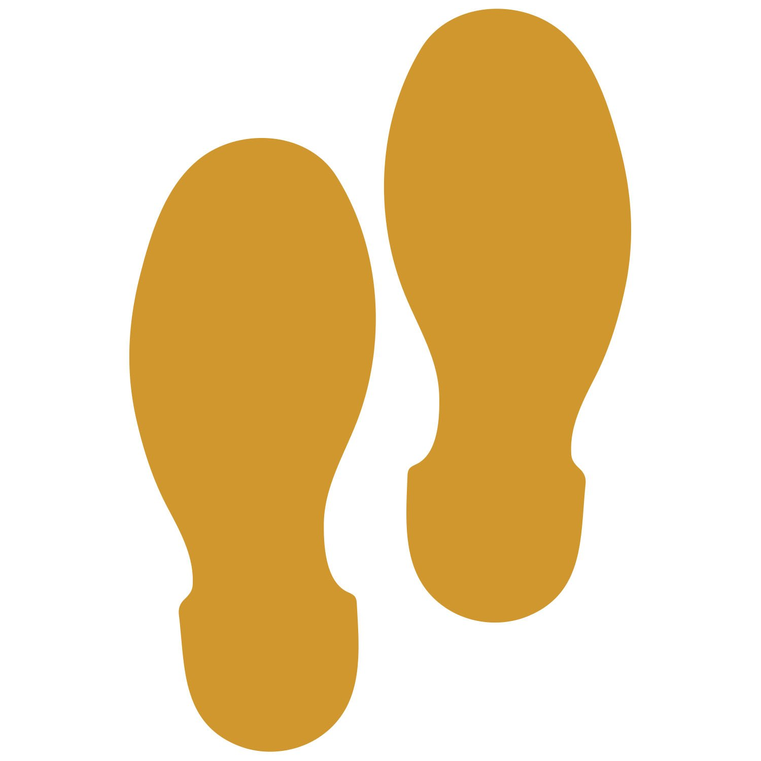 LiteMark 9 Inch Gold Shoe Print Decal Stickers for Floors and Walls - Pack of 12 (6 Pairs)