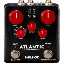 Verdugo ATLANTIC delay and reverb double nail NUX  guitar effect pedals