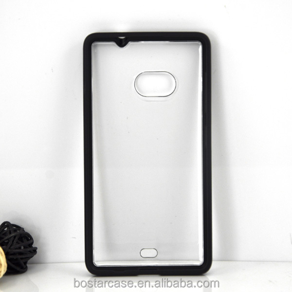 Clear Pc And Tpu Bumper Case For Nokia Lumia 535