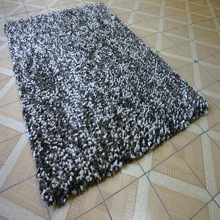 Shaggy Rug Twisted Polyester yarn Silky yarn Canvas backing antique carpets rugs