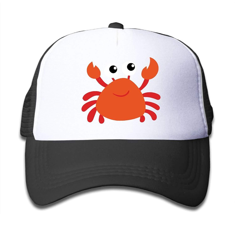 7cc33cf47fa Get Quotations · Gdgd1 Caps Cartoon Red Crab Baby Boys Girls Cool Adjustable  Hip Pop Hat Mesh Baseball Caps