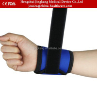 High quality heated breathable elastic nylon wrist support brace / CE FDA proved gym wrist wraps belt