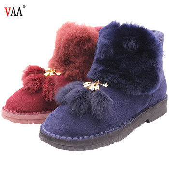 AN-CF-32 High Quality And New Design Winter Women Snow Boots, Winter Ladies Leather Boots