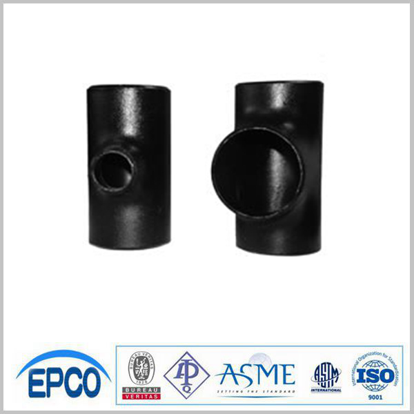factory manufacture asme standard bevel ends carbon steel pipe fittings tee
