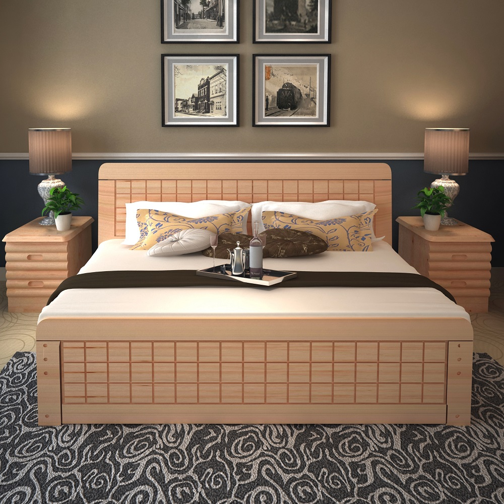2017 Latest Design Bed Room Furniture Bedroom Set Solid Wood King Size