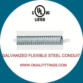 3 4 inch gi steel corrugated flexible pipe conduit for electrical cable fire resistant