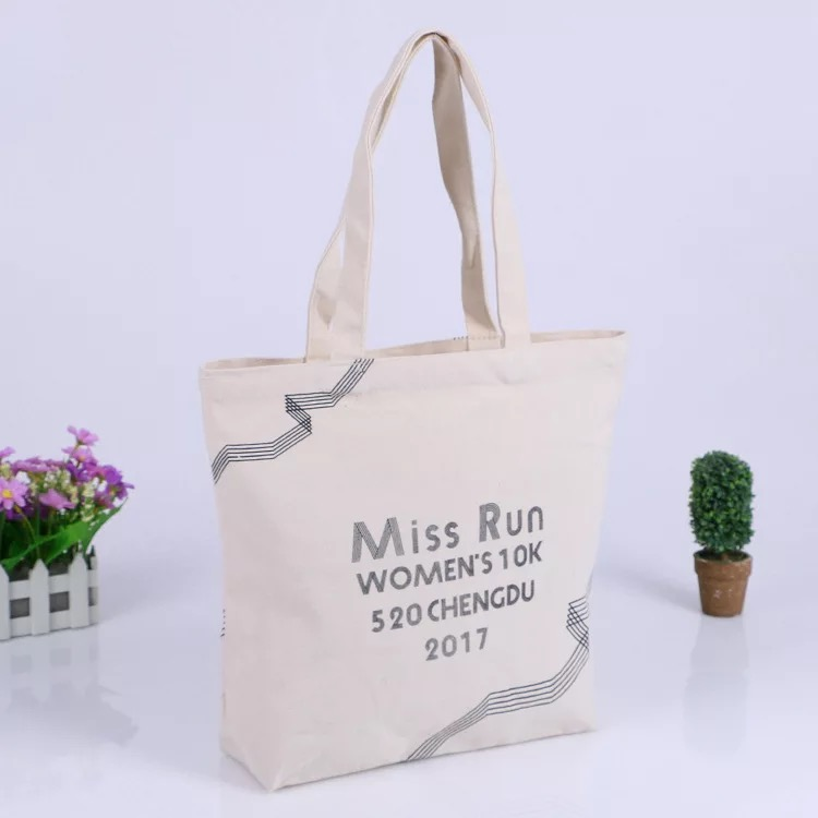 New Design Standard Size Custom Printed Cotton Canvas Tote Bag