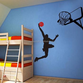 Basketball Wall Sticker Michael Jordan Slam Dunk Vinyl Sport Wall