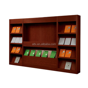 MDF wood book display rack book store shelves book store furniture for sale