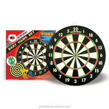 2017 Hot Sale 18 Inches Double-Sided Dartboard Stand With 6 Brass Darts