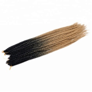 2018 New Product Noble Gold Synthetic Hair Small Crochet Braid Black And Brown Mixed Hair Color Popular Synthetic