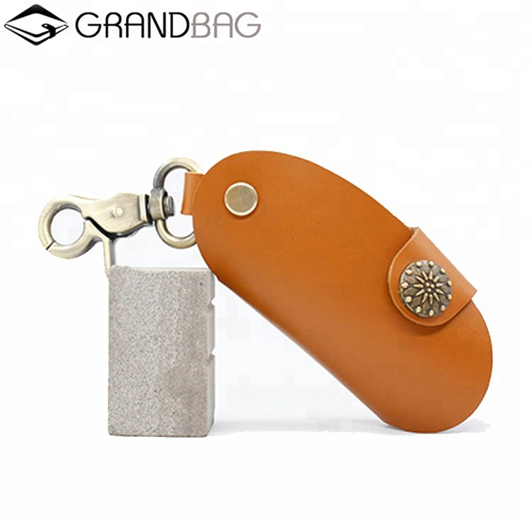custom handmade gift vintage genuine leather car key cover case keychain
