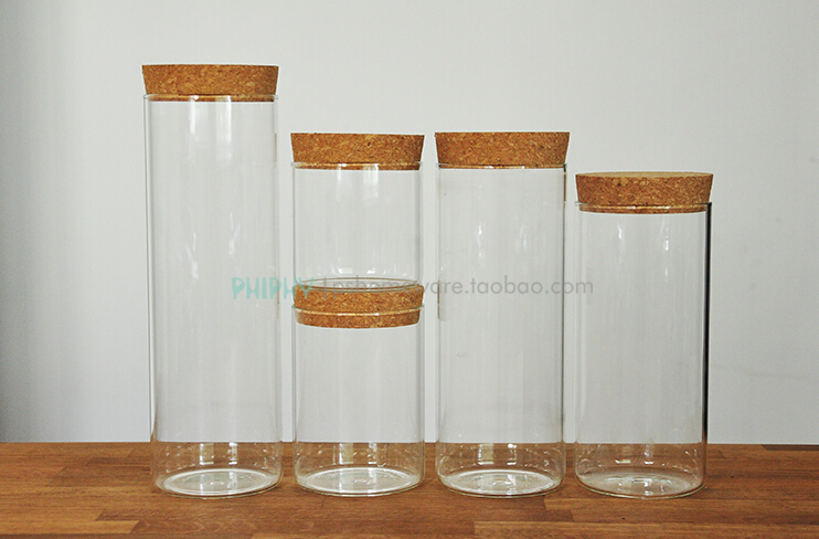 Glass Storage Jar With Cork Lid
