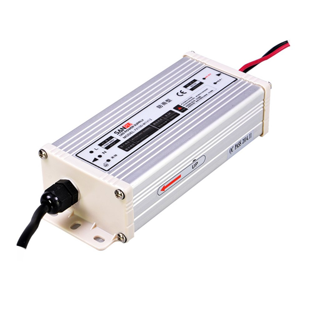 SANPU SMPS LED Driver 12v 100w 8a Constant Voltage Switching Power Supply, 110v 120v ac-dc Lighting Transformer Rainproof IP63 (SANPU FX100-W1V12)
