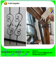 decorative paint wrought iron porch tubular hollow balusters design for stair