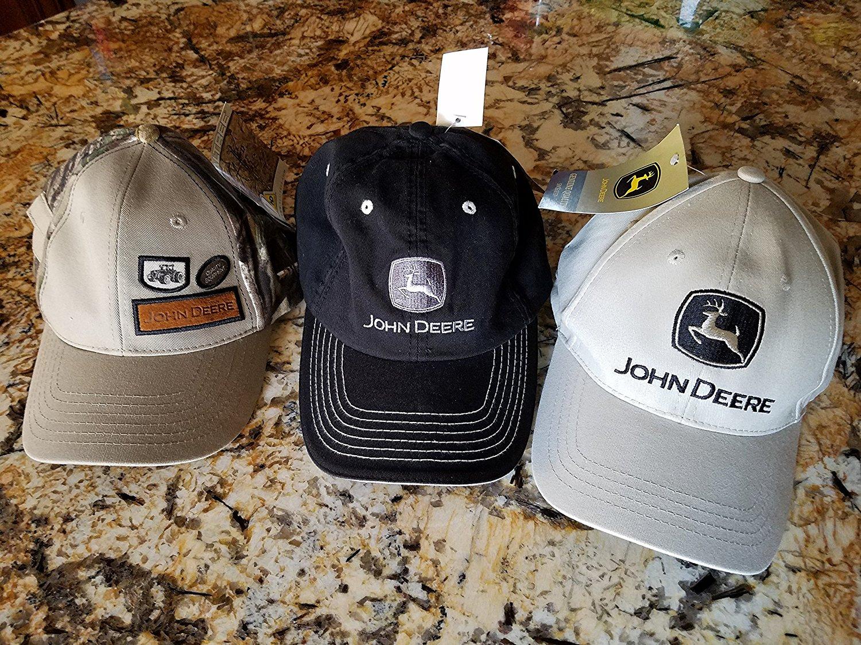 f846285921722 3 Pack John Deere Baseball Cap Hat Hats